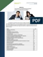 Ejercicio. Factores de Satisfacción en El Trabajo