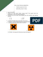 Soal Ujian Tengah Semester 1 Kimia