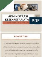 ADMINISTRASI & KESEKRETARIATAN