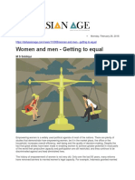 Women and Men - Getting to Equal
