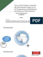 Stress Tolerance of the Endemic Antarctic Brown Algae