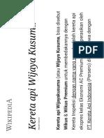 Jadwal KA Wikus - Wikipedia Bahasa Indone