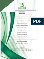 ICCMC 2018 Schedule