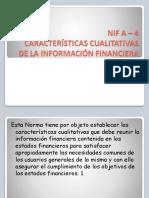 finest selection 42611 6c215 Nif a4 Caracteristicas Cualitativas