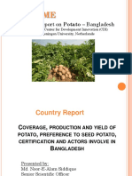 Country Report on Potato Production Stat