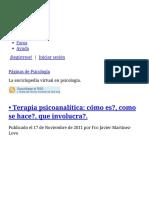 • Terapia Psicoanalítica_ Cómo Es_, Como Se Hace_, Que Involucra_. _ Páginas de Psicología