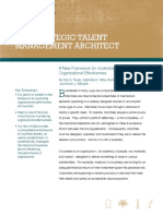 The Strategic Talent Management Architect- A New Framework for Understanding Organizational Effectiveness