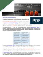 --- El Rincón de Los Formadores - F.E.R. ---_ Pensamiento Vertical y Pensami