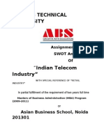 Swot analysis of Indian Telecom Industry..