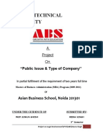 project on types of Company & public issue