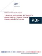 MDG43 Technical Standard for the Design of Diesel Engine Systems for Use in Underground Coal Mines