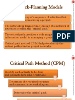 Critical path method and Time cost model