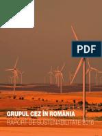2016-Raport de Sustenabilitate Al Grupului CEZ În Romania(1)