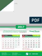 Kalender Dinding 2017 - 004 _12