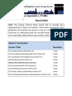 microsoft office specialist 77-881 week 1