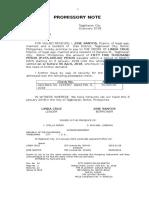 Promissory Note Sample 1