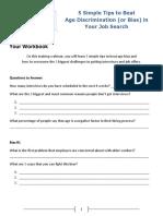 5 Simple Tips to Beat Age Bias Webinar WORKSHEET