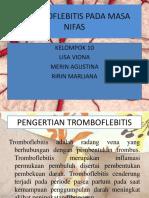 Tromboflebitis Pada Masa Nifas