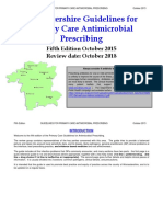 Primary Care Antimicrobial Prescribing Guidelines - October 2015c[1]