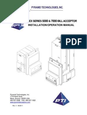 Apex-Series-5000-7000-bill-acceptor-Manual pdf   Electrical