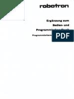 Ergänzung zum Bedien- und Programmierhandbuch Robotron K1003