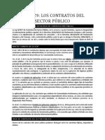 Los Contratos del Sector Público Nueva Ley 9/2017