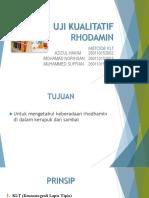 Uji Kualitatif Rhodamin Dengan Metode Wool