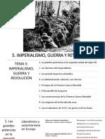 Tema 5 Imperialismo, Guerra y Revolución