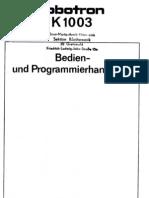 Bedien- und Programmierhandbuch Robotron K1003