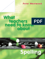 [Peter Westwood] What Teachers Need to Know About