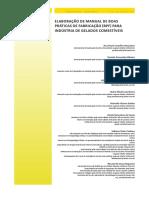Elaboração de manual de boas práticas