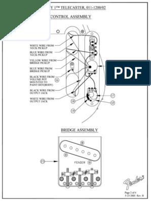 Fender - Guitar - Telecaster Wiring Diagram.pdf | Electrical ... on