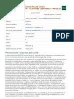 Análisis de Fourier y Ecuaciones en Derivadas Parciales