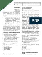 Provão de Português - 1º Colegial c - 2017 - 4º Bimestre
