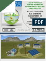 Potencialidad de Las Energías Renovables en Venezuela PDF