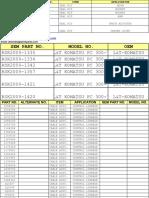 48807377 Heavy Equipment Parts Inventory List Catalog Parts No