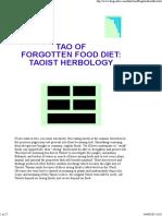 Tao of Forgotten Food Diet_ Taoist Herbology