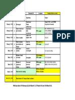 E50M Schedule