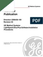 2296436 LIGHTSPEED ULTRA/PLUS SOFTWARE INSTALLATION