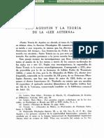 San Agustín y La Teoría de La Ley Eterna