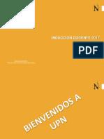 Inducción Desarrollo Docente TP 2017-1