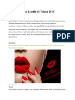 5 Trend Warna Lipstik Di Tahun 2018 Lhan