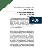 Luis E. Lander - LA REFORMA PETROLERA DEL GOBIERNO DE CHÁVEZ