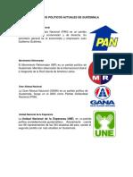 Partidos Politicos Actuales de Guatemala