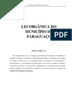 Lei Orgânica Do Município de Paraguaçu - MG COM as EMENDAS