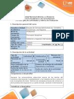 Guía 1 de Actividades y Rubrica de Evaluacion