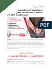 Conduccion Compulsiva - Casación 375-2011, Lambayeque - Conduccion Compulsiva No Viola Derecho a No Declarar