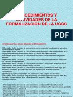 Procedimientos y Actividades de La Formalización de La Ugss
