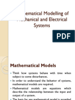 Mathematical Modelling of Mechanical and Electrical Systems