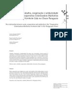 A Relação Entre Trabalho, Cooperação e Solidariedade Na Formação Da Cooperativa Colonizadora Multiativa Fernheim Ltda No Chaco Paraguaio